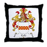 Kalle Family Crest Throw Pillow