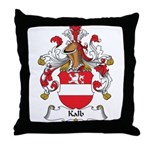Kalb Family Crest Throw Pillow