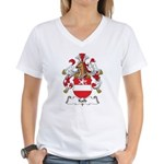 Kalb Family Crest Women's V-Neck T-Shirt