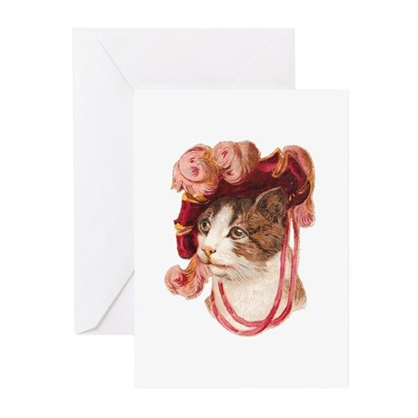 Victorian Cat Greeting Cards (Pk of 10)