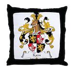Kain Family Crest Throw Pillow