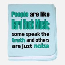 People are like Hard Rock baby blanket