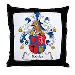 Kahles Family Crest Throw Pillow