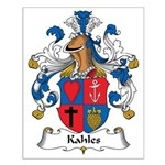 Kahles Family Crest Small Poster