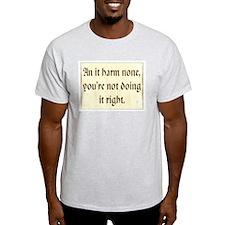 Ash Grey T-Shirt - An it harm none