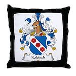 Kabisch Family Crest Throw Pillow
