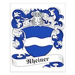 Rheiner Family Crest Small Poster