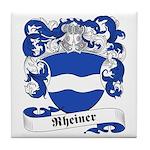 Rheiner Family Crest Tile Coaster