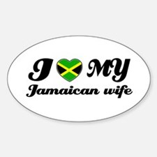 I love my Jamaican Wife Oval Decal