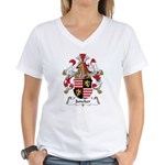 Juncker Family Crest Women's V-Neck T-Shirt
