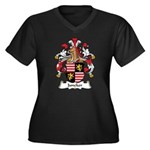 Juncker Family Crest Women's Plus Size V-Neck Dark