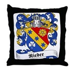 Rieder Family Crest Throw Pillow