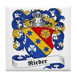 Rieder Family Crest Tile Coaster