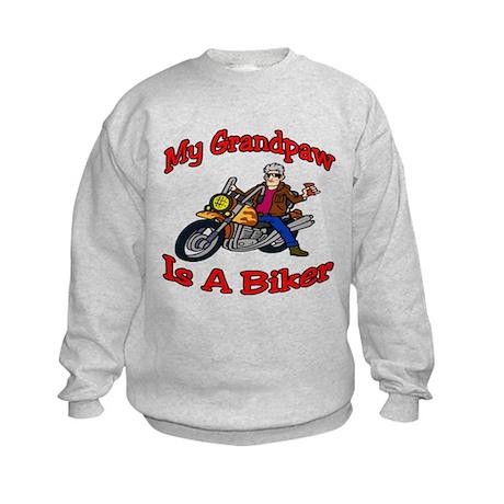 My Grandpaw Is A Biker Kids Sweatshirt
