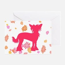 Chinese Crested Flowers Greeting Card