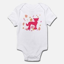 Chinese Crested Flowers Infant Bodysuit
