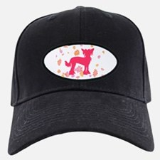 Chinese Crested Flowers Baseball Hat