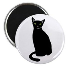 Black Cat Magnet