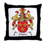 Jenssen Family Crest Throw Pillow