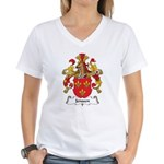 Jenssen Family Crest Women's V-Neck T-Shirt