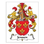 Jenssen Family Crest Small Poster