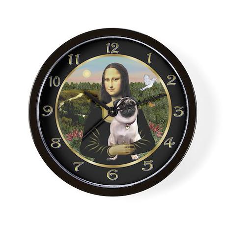 Mona Lisa & her Pug Wall Clock