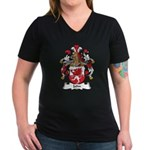 Jahn Family Crest Women's V-Neck Dark T-Shirt