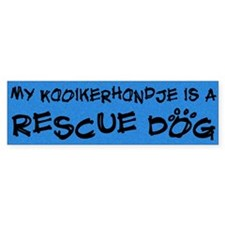 Rescue Dog Kooikerhondje Bumper Bumper Sticker