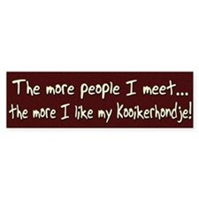 The More People Kooikerhondje Bumper Bumper Sticker
