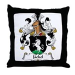 Jackel Family Crest Throw Pillow