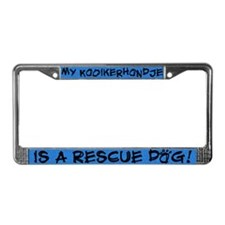 Rescue Dog Kooikerhondje License Plate Frame
