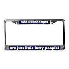 Furry People Kooikerhondje License Plate Frame