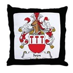 Iven Family Crest Throw Pillow