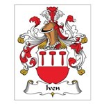 Iven Family Crest Small Poster