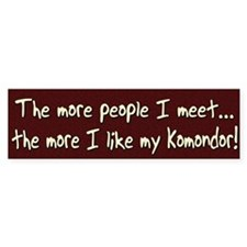 The More People Komondor Bumper Bumper Sticker