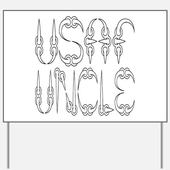 USAF Uncle Yard Sign