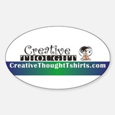CreativeThought Oval Decal