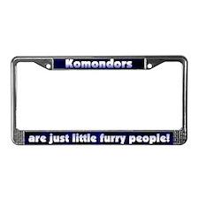 Furry People Komondor License Plate Frame