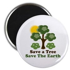 Save A Tree Save the Earth Magnet