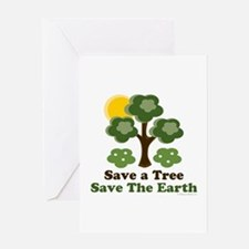 Save A Tree Save the Earth Greeting Card