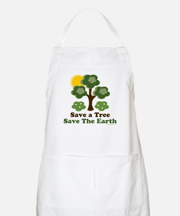 Save A Tree Save the Earth BBQ Apron