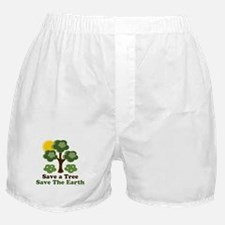 Save A Tree Save the Earth Boxer Shorts