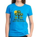 Save A Tree Save the Earth Women's Dark T-Shirt