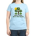 Save A Tree Save the Earth Women's Light T-Shirt