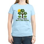 Save A Tree Save the Earth Women's Pink T-Shirt