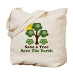 Save A Tree Save the Earth Tote Bag