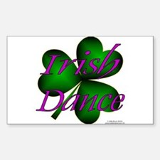 Neon Irish Dance - Rectangle Decal