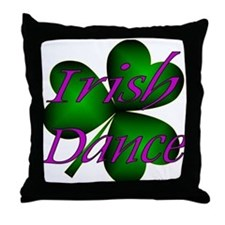Neon Irish Dance - Throw Pillow