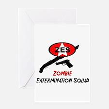 Zombie Elimination Squad Greeting Card