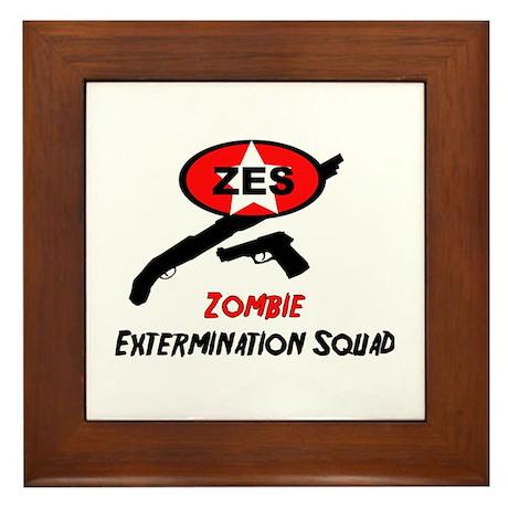 Zombie Elimination Squad Framed Tile